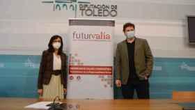 Ana Gómez y Andrés Martínez, este viernes en la Diputación de Toledo