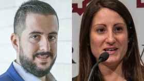 Mario Ortolá, portavoz de VOX en Alicante, y su mujer, Ana Vega, diputada en las Cortes Valencianas.
