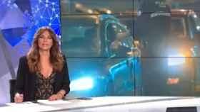 Mariló Montero en el plató del informativo que presenta en Canal Sur.