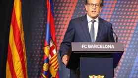 Toni Freixa en una comparecencia del Barça