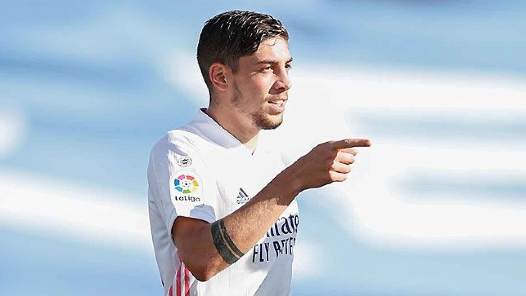 Fede Valverde, en un partido del Real Madrid en la temporada 2020/2021