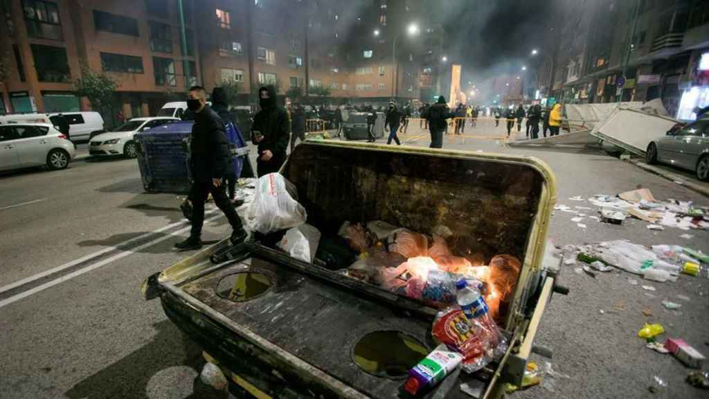 Noche de graves disturbios en la ciudad de Burgos.