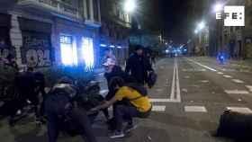 Disturbios en Barcelona contra las restricciones del Govern. Efe