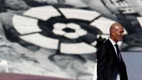 Zinedine Zidane, durante el partido del Real Madrid frente al Huesca de La Liga
