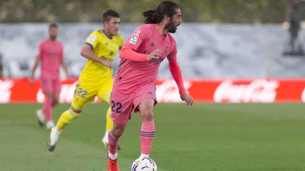 Isco Alarcón, durante un partido de esta temporada con el Real Madrid