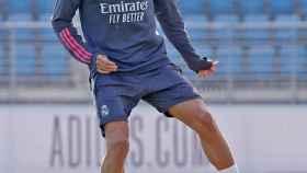 Martin Odegaard, durante el entrenamiento del Real Madrid de este domingo