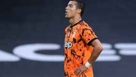 Cristiano Ronaldo durante un partido con la Juventus