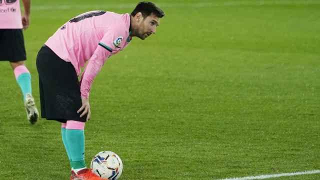 Leo Messi, durante el partido ante el Deportivo Alavés de La Liga