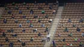 El público que asistió a La Cartuja para ver el España - República Checa de fútbol femenino