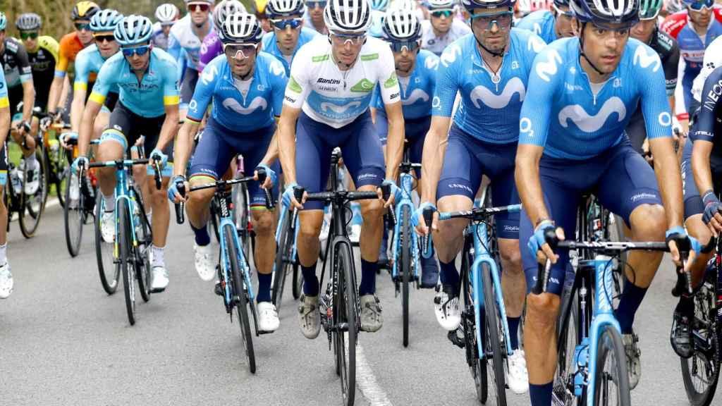 El equipo Movistar en La Vuelta 2020