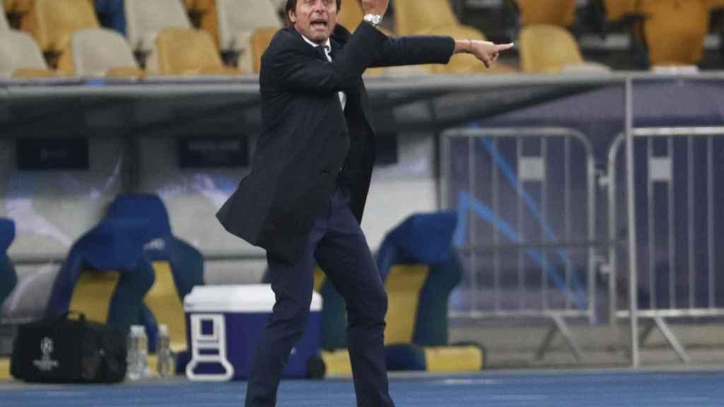 Antonio Conte, durante el Parma - Inter de Milán de la Serie A