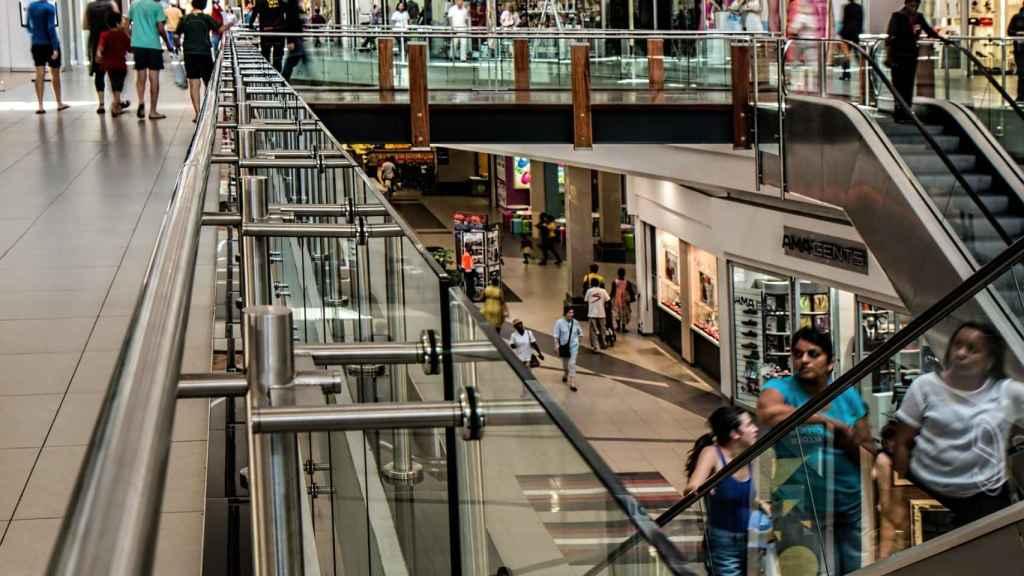 Imagen de archivo de un centro comercial.