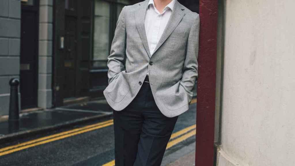 El copresidente de bitFlyer Europe, Andy Bryant, cerca de sus oficinas.
