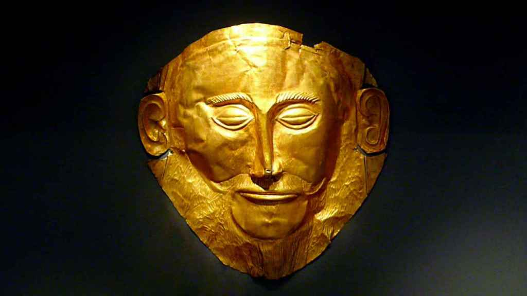 Máscara de Agamenón, de la cultura micénica.