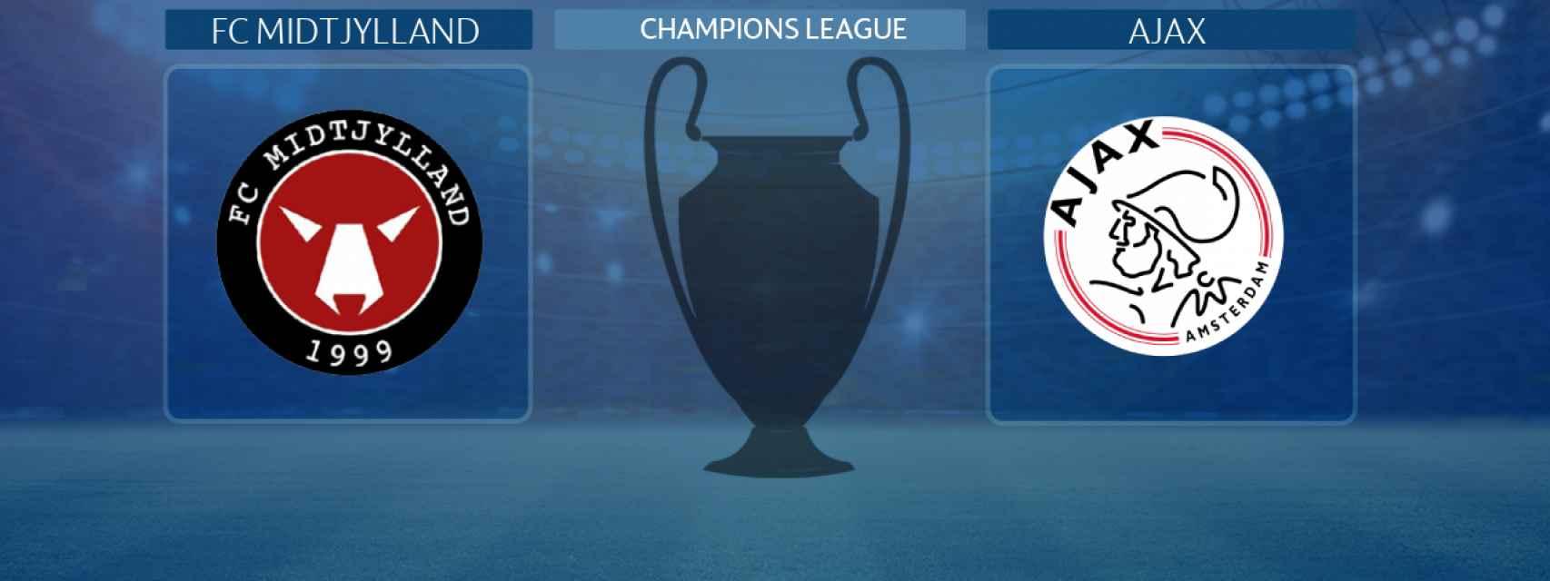 FC Midtjylland - Ajax, partido de la Champions League
