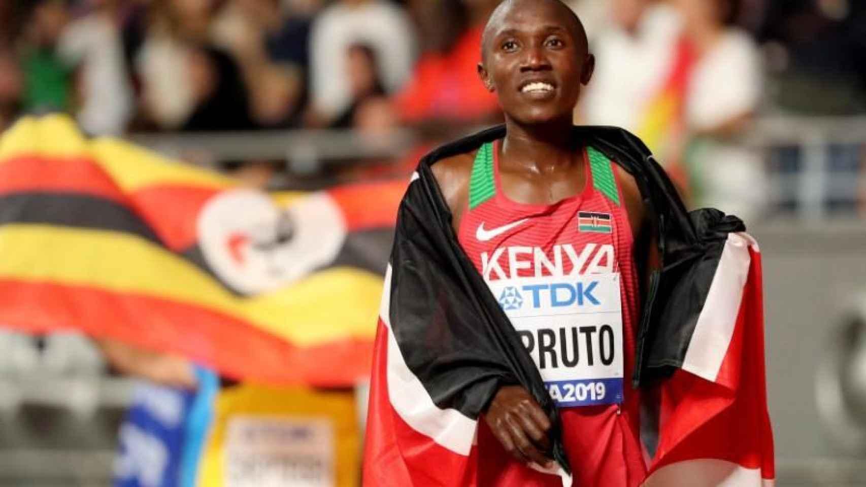 Conselus Kipruto, después de vencer en una prueba