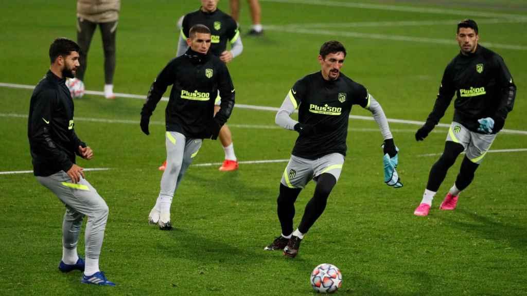 Rondo de entrenamiento del Atlético de Madrid
