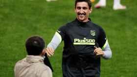 Savic, en el entrenamiento del Atlético de Madrid previo a la Champions League
