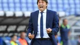 Antonio Conte, durante un partido del Inter de Milán