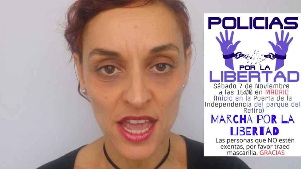 Fotograma del vídeo difundido por los agentes negacionistas.