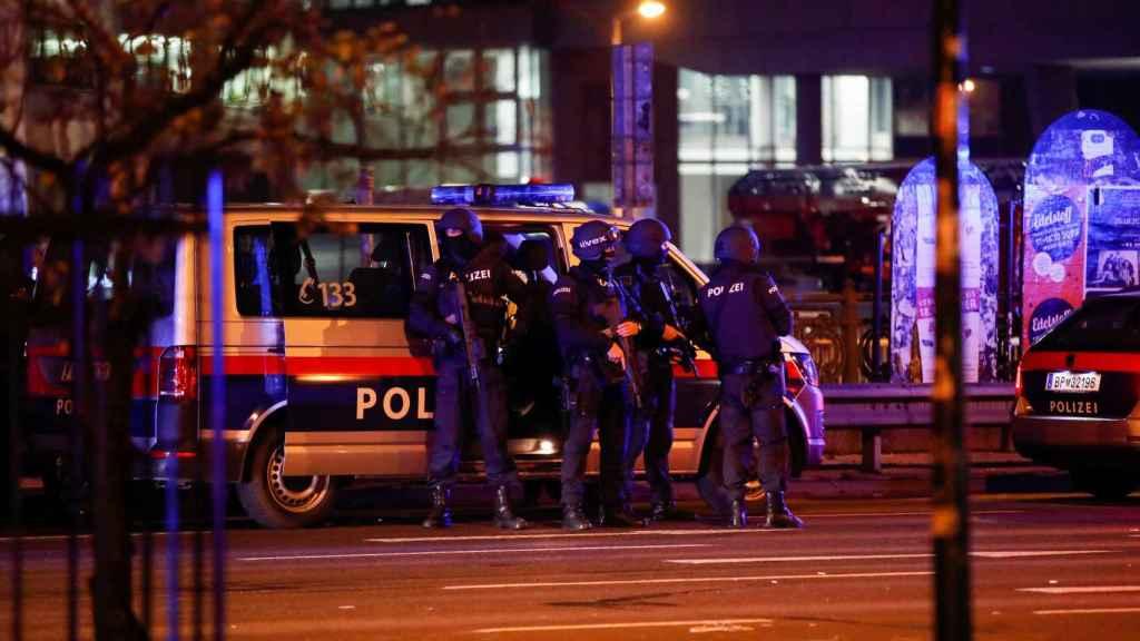 Dispositivo policial en Viena.