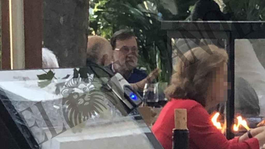 El expresidente del Gobierno Mariano Rajoy en el restaurante Aarde.
