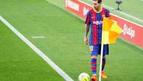 Leo Messi, durante El Clásico del Camp Nou
