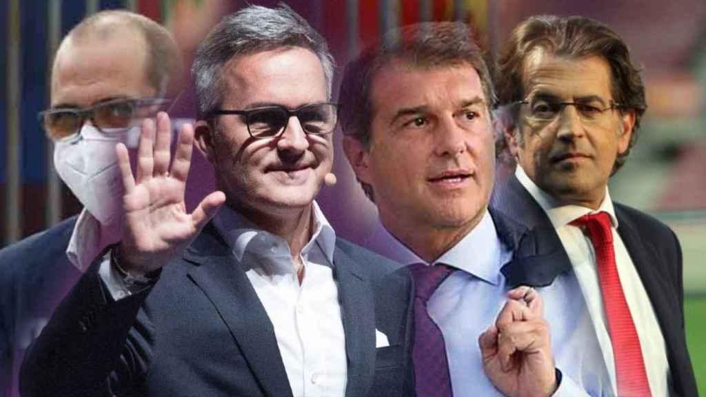 Jordi Farré, Víctor Font, Joan Laporta y Toni Freixa, en un fotomontaje