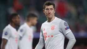 Lewandowski durante un partido del Bayern
