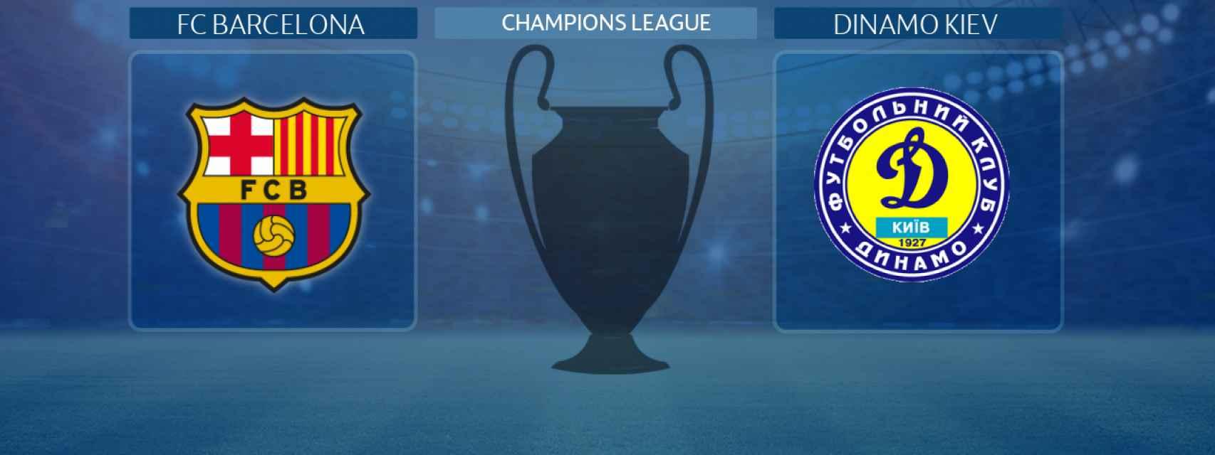 FC Barcelona - Dinamo Kiev, partido de la Champions League