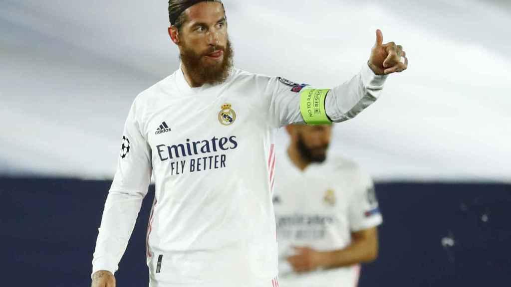 Sergio Ramos agradece el pase de gol