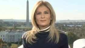 Esta es la cara que se le quedó a Sandra Golpe esperando que entrara un vídeo en el informativo