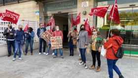 Protesta laboral de este lunes en la Agencia Tributaria de Toledo
