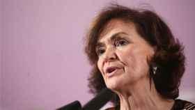 Carmen Calvo, vicepresidenta del Gobierno, en una imagen de archivo