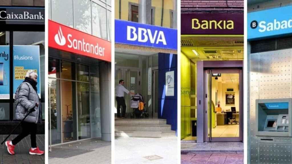 Sucursales de los bancos del Ibex 35.