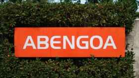 Cartel de Abengoa en su sede de Sevilla.