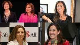De izqda a dcha: Familia Fuertes, Felipa Jove, Mar García Vaquero y Carolina Masaveu.