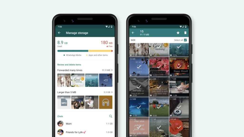 WhatsApp y su función de almacenamiento.