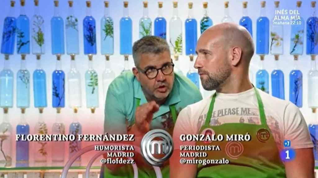 Gonzalo Miró y Flo durante su enganche en 'MasterChef Celebrity'.