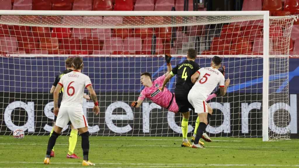 El Sevilla anota el 1-2 ante el Krasnodar