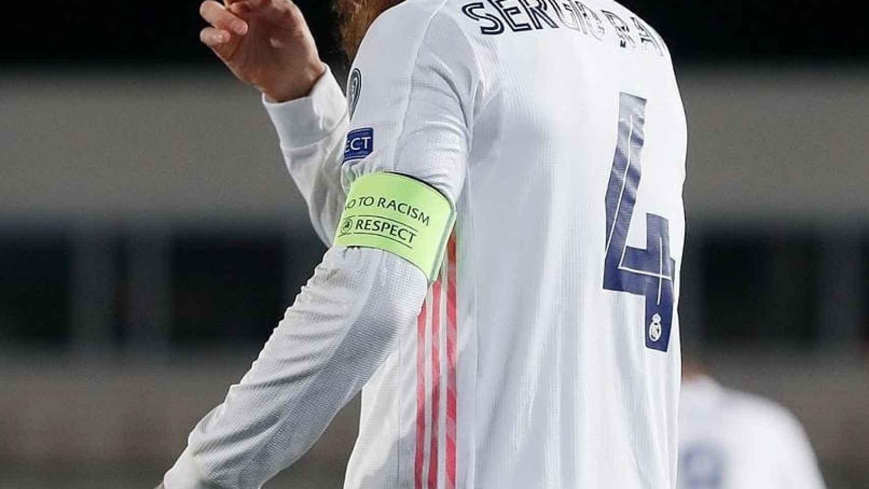 Sergio Ramos, con el '4' del Real Madrid a la espalda. Foto: Instagram (@sergioramos)