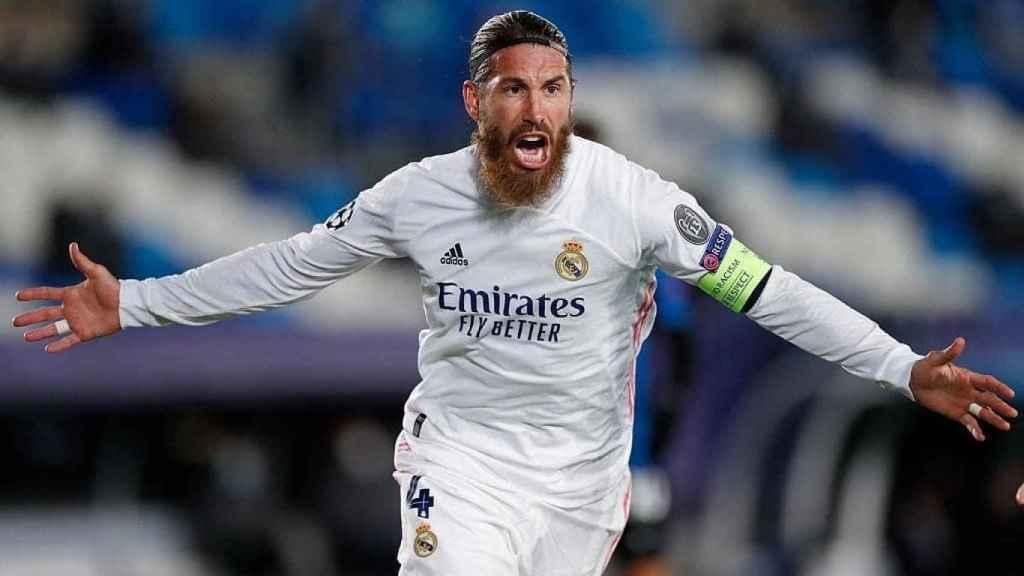 Sergio Ramos celebra su gol 100 con el Real Madrid. Foto: Instagram (@sergioramos)