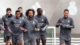 El Real Madrid entrena