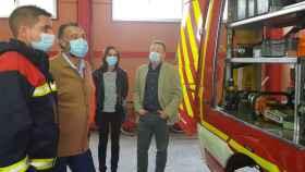 Visita al parque municipal de bomberos de Talavera