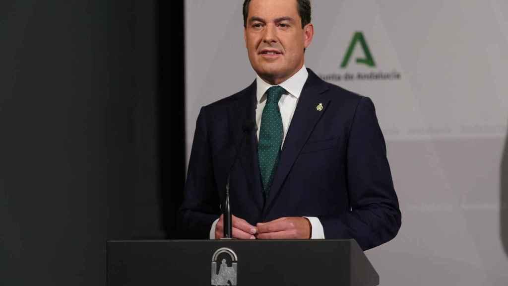 El presidente andaluz, Juanma Moreno