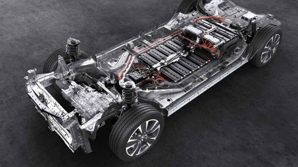 Estructura de un coche eléctrico.