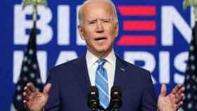 Joe Biden durante su comparecencia desde Wilmington, en Delaware.