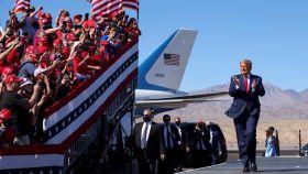 Donald Trump, durante un mitin en el aeropuerto de Phoenix el pasado mes de noviembre.
