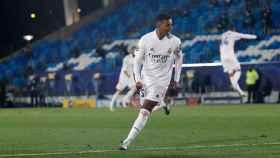 Rodrygo Goes celebra su gol ante el inter de Milán
