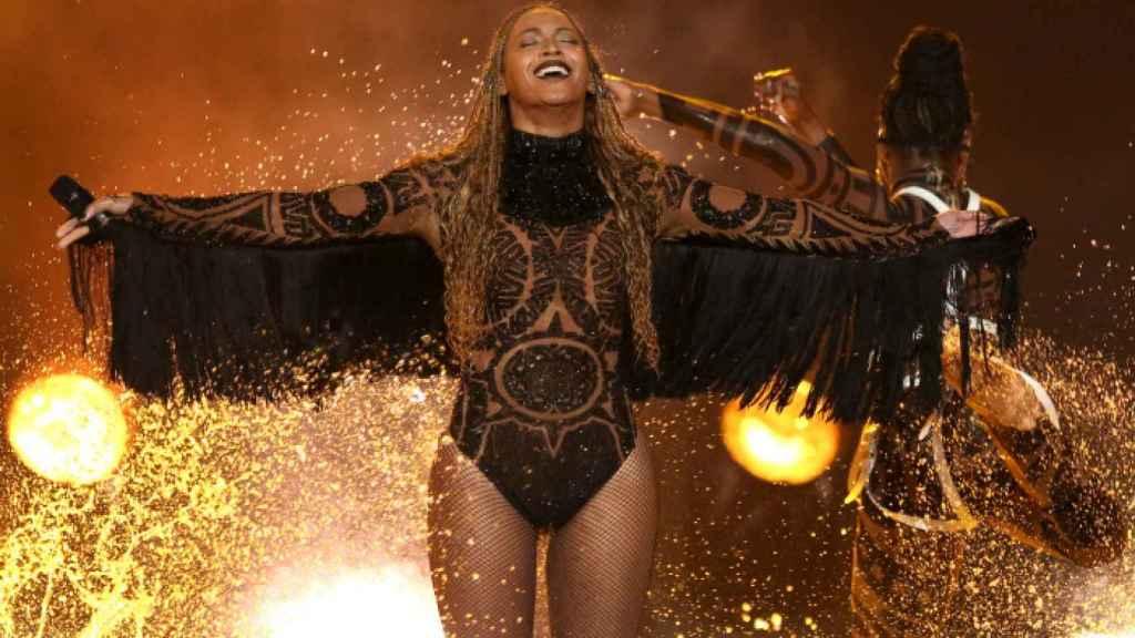 Beyoncé, durante un concierto en Los Ángeles.
